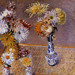 Four Vases of Chrysanthemums – 1893, Gustave Caillebotte