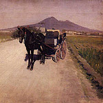 A Road Near Naples, Gustave Caillebotte