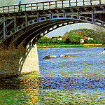 The bridge of Argentueil , Gustave Caillebotte