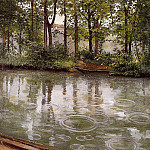 Gustave Caillebotte - The Yerres, Rain (also known as Riverbank in the Rain) - 1875