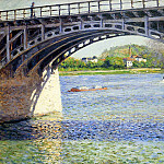 Гюстав Кайботт - The Argenteuil Bridge and the Seine - 1883