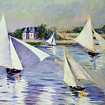 Gustave Caillebotte - Sailboats on the Seine at Argenteuil - 1892