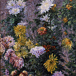Gustave Caillebotte - White and Yellow Chrysanthemums Garden at Petit Gennevilliers