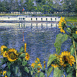 Sunflowers on the Banks of the Seine – 1886, Gustave Caillebotte