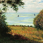Gustave Caillebotte - View of the Sea from Villerville (also known as sea scape) - 1882