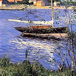 Anchored Boat on the Seine at Argenteuil – 1888, Gustave Caillebotte