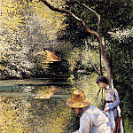 Fishing, Gustave Caillebotte