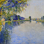 Гюстав Кайботт - View of the Seine in the Direction of the Pont de Bezons - 1892