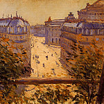 Rue Halevy, Balcony View – 1878, Gustave Caillebotte
