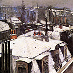 Gustave Caillebotte - Rooftops Under Snow - 1878