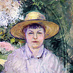 Portrait of Madame Renoir – 1888, Gustave Caillebotte