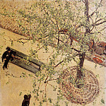 Gustave Caillebotte - Boulevard Seen from Above - 1880