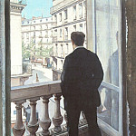 A Young Man at His Window – 1875, Gustave Caillebotte