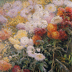 Clump of Chrysanthemums Garden at Petit Gennevilliers, Gustave Caillebotte
