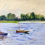 Gustave Caillebotte - Sailing Boats on the Seine at Argenteuil - 1890 - 1891