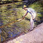 Boater Pulling on His Perissoire, Gustave Caillebotte