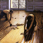 Gustave Caillebotte - The Floor Scrapers (also known as The Floor Strippers) - 1875