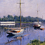 The Basin at Argenteuil – 1882, Gustave Caillebotte