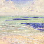 Seascape, Regatta at Villers, Gustave Caillebotte