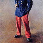 A Soldier – 1881, Gustave Caillebotte