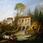 François Boucher - Imaginary Landscape with the Palatine Hill from Campo Vaccino, Metropolitan Museum: part 1