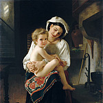 Metropolitan Museum: part 1 - William Bouguereau - Young Mother Gazing at Her Child