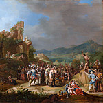 Bartholomeus Breenbergh – The Preaching of John the Baptist, Metropolitan Museum: part 1