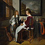 Metropolitan Museum: part 1 - Quirijn van Brekelenkam , after 1622–ca. 1669 Leiden) - Sentimental Conversation