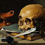 Metropolitan Museum: part 1 - Pieter Claesz - Still Life with a Skull and a Writing Quill