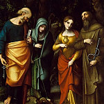 Metropolitan Museum: part 1 - Correggio (Italian, Correggio, active by 1514–died 1534 Correggio) - Saints Peter, Martha, Mary Magdalen, and Leonard
