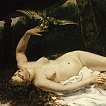 Metropolitan Museum: part 1 - Gustave Courbet - Woman with a Parrot