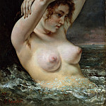 The Woman in the Waves, Gustave Courbet