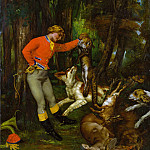 After the Hunt, Gustave Courbet