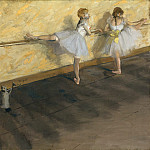 Dancers Practicing at the Barre, Edgar Degas