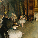 The Rehearsal of the Ballet Onstage, Edgar Degas
