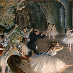 The Rehearsal Onstage, Edgar Degas