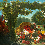 Metropolitan Museum: part 1 - Eugène Delacroix - Basket of Flowers