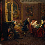 Metropolitan Museum: part 1 - Pierre Louis Dumesnil the Younger - Card Players in a Drawing Room