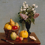 Metropolitan Museum: part 1 - Henri Fantin-Latour - Still Life with Flowers and Fruit