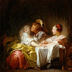 Jean Honoré Fragonard – The Stolen Kiss, Metropolitan Museum: part 1