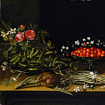 French Painter, 17th century - Still Life with Strawberries, Metropolitan Museum: part 1