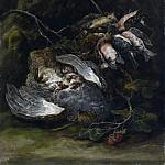 Jan Fyt - A Partridge and Small Game Birds, Metropolitan Museum: part 1