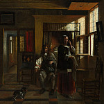 Interior with a Young Couple, Pieter de Hooch