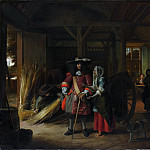 Paying the Hostess, Pieter de Hooch