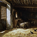 Charles Jacque - The Sheepfold, Metropolitan Museum: part 1