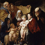 Jacob Jordaens - The Holy Family with Saint Anne and the Young Baptist and His Parents, Metropolitan Museum: part 1