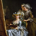 Metropolitan Museum: part 1 - Adélaïde Labille-Guiard - Self-portrait with Two Pupils, Marie Gabrielle Capet (1761–1818) and Marie Marguerite Carreaux de Rosemond (died 1788)