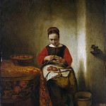 Metropolitan Museum: part 1 - Nicolaes Maes - Young Woman Peeling Apples