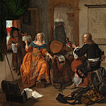 Metropolitan Museum: part 1 - Gabriël Metsu - A Musical Party