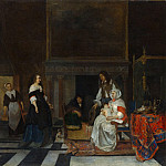 Metropolitan Museum: part 1 - Gabriël Metsu - The Visit to the Nursery
